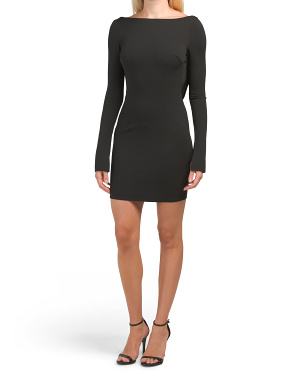 Made In Usa Glisten Open Back Bodycon Dress