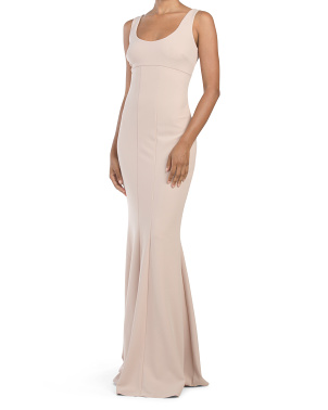 Made In Usa Westward Scoop Neck Gown