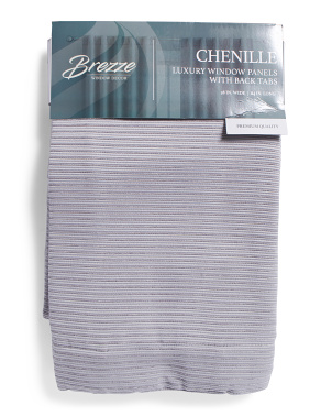 38x84 Set Of 2 Jacquard Chenille Curtains
