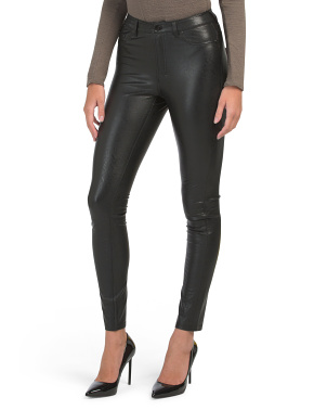 Coated 5 Pocket High Rise Leggings