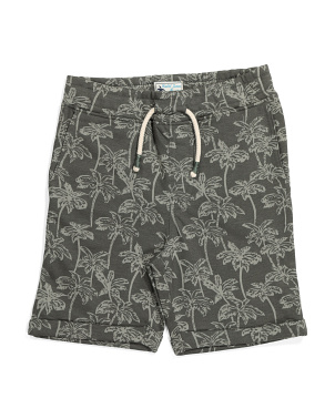 Big Boys Palm Tree Pull On Shorts