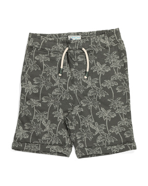 Little Boys Palm Tree Pull On Shorts