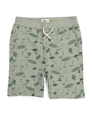 Little Boys Pirate Palm Pull On Shorts