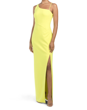 One Shoulder Stretch Crepe Gown