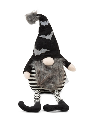 Bat Hat Sitting Gnome
