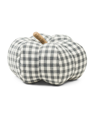 9in Gingham Print Pumpkin