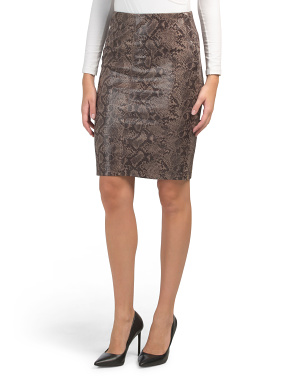 Faux Snake Pencil Skirt
