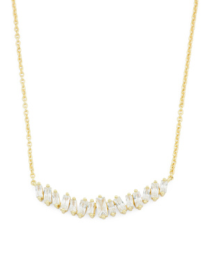 18k Gold Plated Cz Amara Necklace