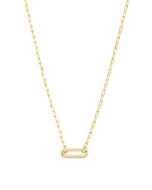 18k Gold Plated Parker Charm Necklace