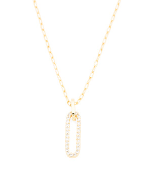 18k Gold Plated Parker Cz Shimmer Necklace