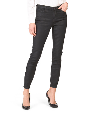 High Rise Coated Skinny Jeans