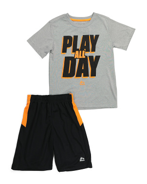 Big Boys Play All Day Tee And Mesh Short Set