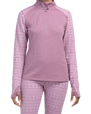 Merino Wool Mid-weight Fairisle Ski Sweater