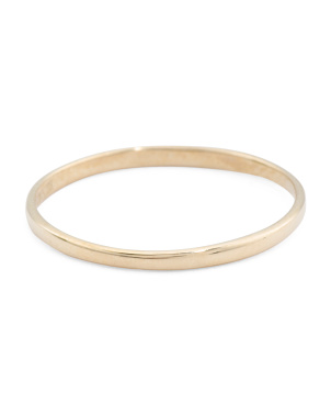Made In Usa 14k Polished Gold 1mm Band Ring