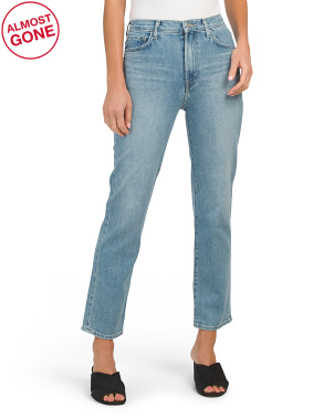 Jules High Rise Crop Straight Jeans