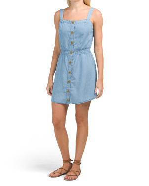 Juniors Chambray Dress