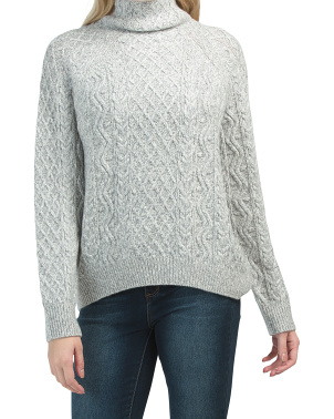 Zig Zag Cable Knit Sweater