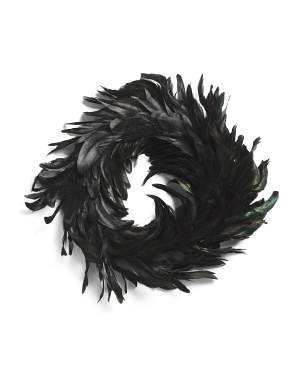 13.5in Feather Wreath