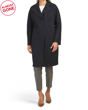 Made In Italy Virgin Wool Blend Coat