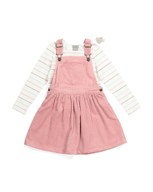 Toddler Girls Corduroy Jumper Set