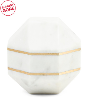 6in Octagon Marble Orb