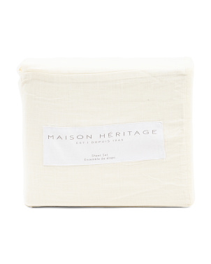 Maison Heritage Vintage Cotton Collection Sheet Set