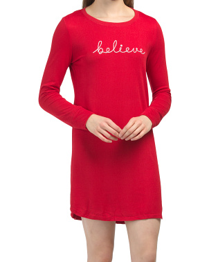 Hacci Believe Embroidered Nightshirt