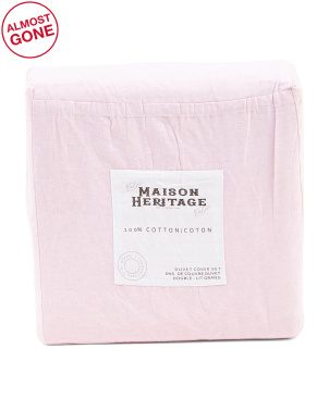 Maison Heritage Vintage Cotton Collection Duvet Cover
