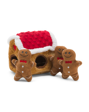 Gingerbread House Holiday Burrow Toy