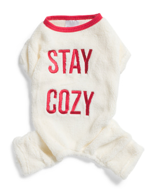 Fuzzy Stay Cozy Pet Pajamas