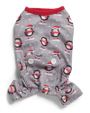Penguin Print Pet Pajamas