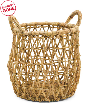 Small Natural Round Basket With Handles