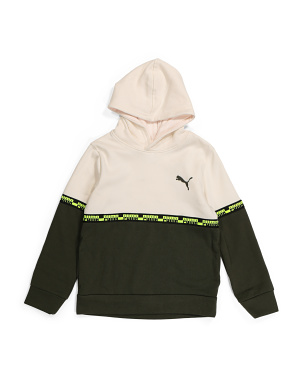 Big Boys Fleece Color Block Pullover Hoodie