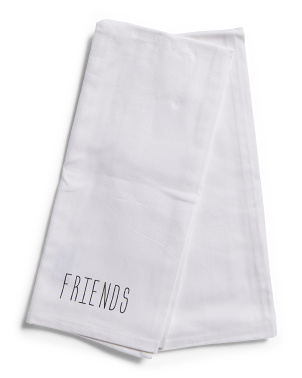 2pk Twill Family Friends Towels