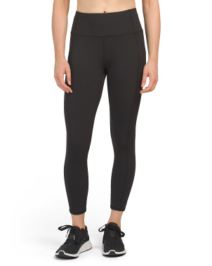 High Waist Interlock Ankle Leggings