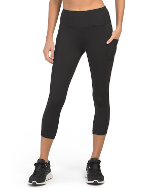 Lux High Rise Side Pocket Capri Leggings