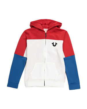 Big Boys Color Block Hoodie