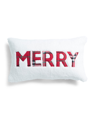 14x24 Merry Plaid Back Pillow