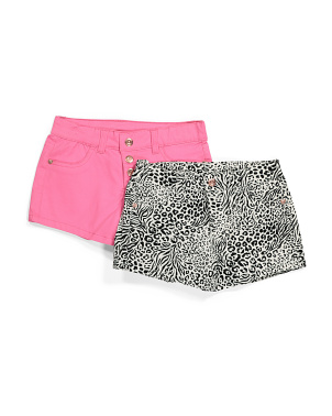 Big Girls 2pk Animal Print Shorts