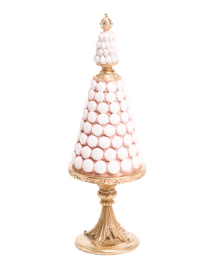 21in Resin Macaron Cakes Tree Decor With Pedestal Base