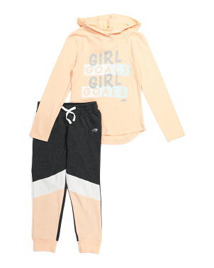 Big Girls Hooded Jogger Set