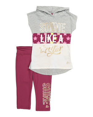 Big Girls Graphic Front Leggings Set