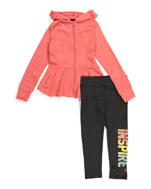 Big Girls Jacket & Capri Set