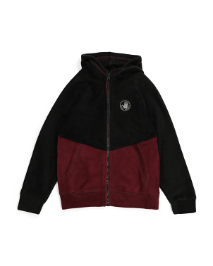 Big Boys Fleece Zip Up Hoodie
