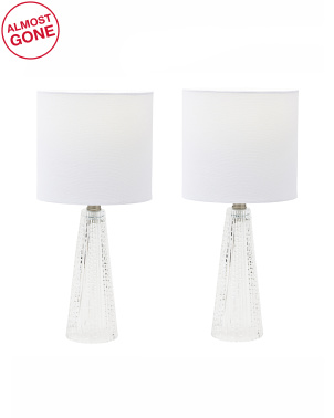 Set Of 2 Glass Table Lamps