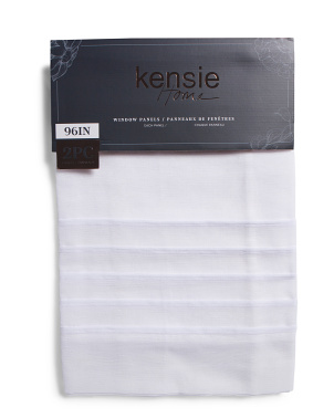 38x96 Set Of 2 Cordella Textured Sheer Curtains