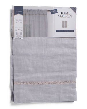 40x84 Set Of 2 Desideria Linen Look Curtains