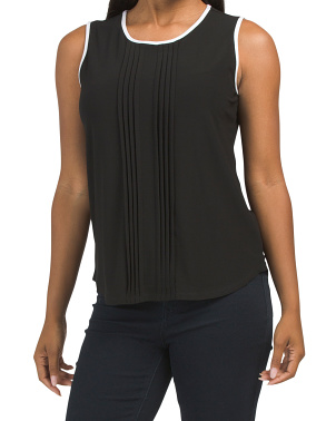 Pleat Front Tank With Tipping