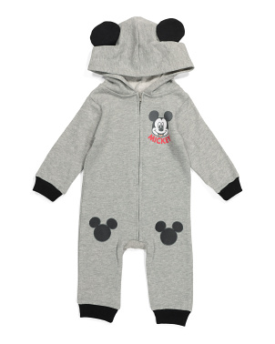 Infant Boys Mickey Hooded Coverall