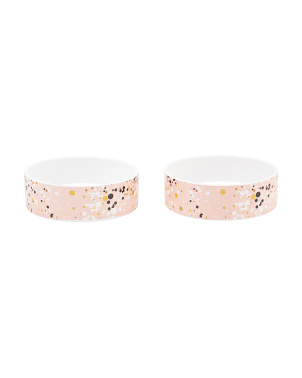 Set Of 2 Medium Paris Pet Bowls